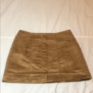 Gap Suede-like Lined Skirt Size 8